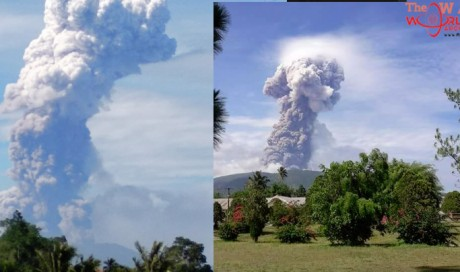 Volcano erupts on Indonesia's Sulawesi days after fatal quake & tsunami