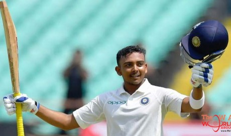 Teenager Shaw becomes India's youngest debut ton-maker