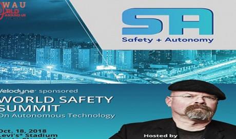 Velodyne LiDAR Hosts Inaugural World Safety Summit on Autonomous Technology, Thurs. Oct 18 at Levi's Stadium in Santa Clara, Calif.