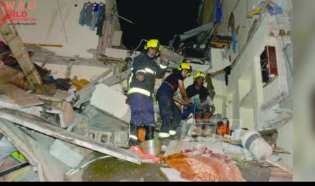 Four people died and several injured in building collapse