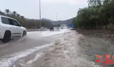Heavy rain causes flooding in parts of the UAE