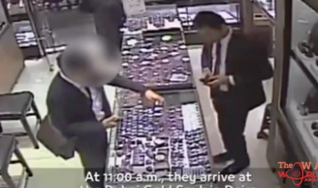 VIDEO: Asian couple arrested in India for stealing Dh300,000 diamond in Dubai