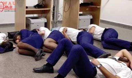Ryanair sacks staff who spent night on airport floor
