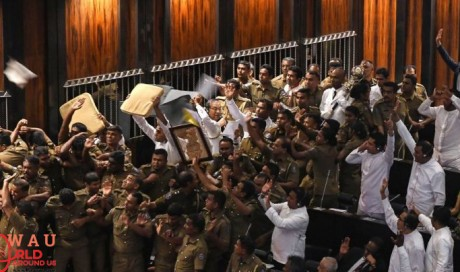 Sri Lanka MPs hurl chilli powder, chairs in Parliament commotion