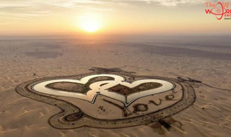 Have you visited Dubai's heart-shaped lake yet?