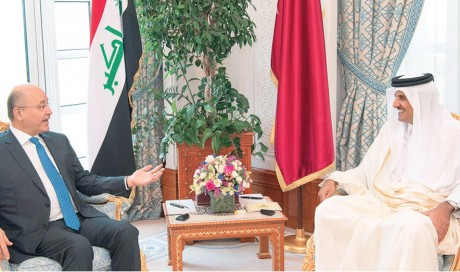 Qatar, Iraq vow to strengthen ties