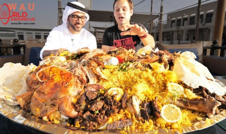 Dubai Food - RARE Camel Platter - WHOLE Camel with Rice + Eggs - Traditional Emirati Cuisine in UAE!