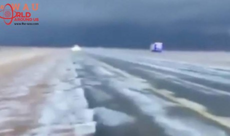 Video: 'Snowfall' in Saudi Arabia desert?