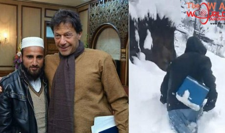 Pakistan PM Imran Khan meets polio workers who braved heavy snow for immunisation