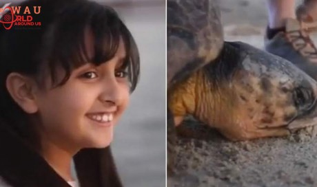 Video: Dubai princess rescues 80-year-old turtle
