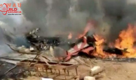 Video: Pilot dead as two planes crash while rehearsing in India