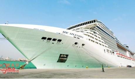 MSC Splendida arrives at Doha Port with 5,000 onboard