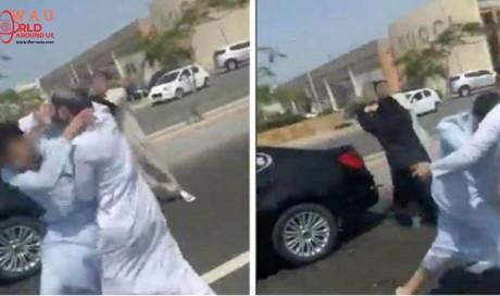 Watch: Saudi street fight erupts as 'shoe-wielding woman attacks man'