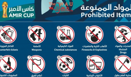 List of prohibited items during Amir Cup final