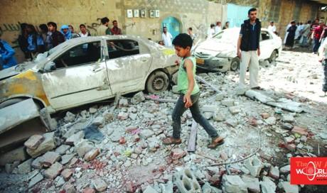 Saudi-led air strikes pound Yemeni capital Sanna, children among dead
