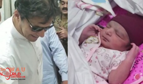 Newborn baby named after Imran Khan as PM visits hospital