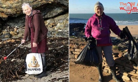 This 70-Year-Old Grandma Cleaned Up 52 Beaches in 2018 to Help Our Planet