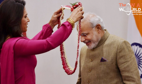 Indian-origin presidential candidate welcomes Narendra Modi on his visit to US.