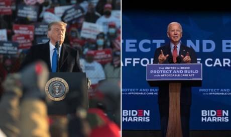 US Election 2020: Trump alleges \'shenanigans\' as Biden urges calm